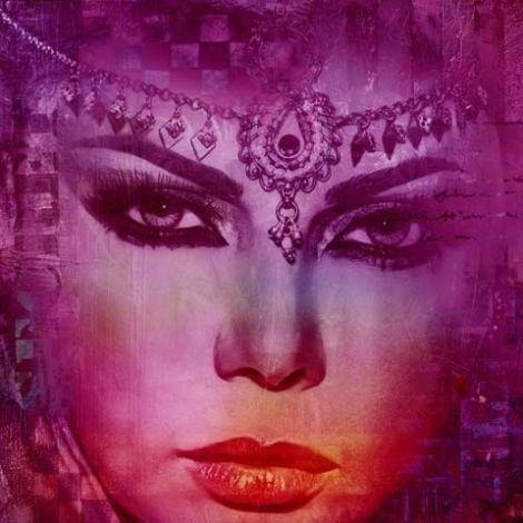 Arabische schilderij Arabian Haifa paars
