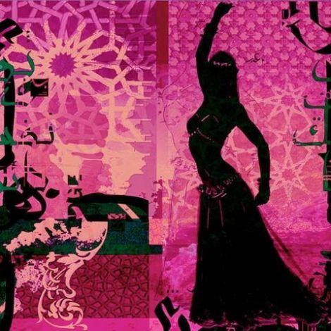 Arabische Schilderij Buikdanseres Roze