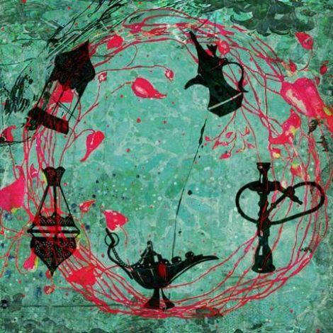 Arabische schilderij Oriëntaalse Mix Groen