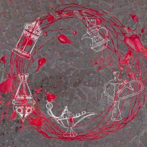 Arabische schilderij Oriëntaalse Mix Taupe