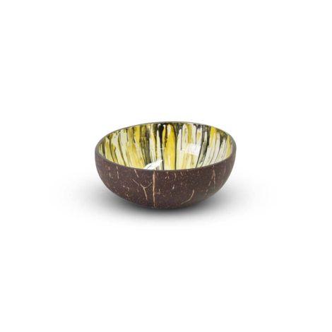 Coconut Bowl Geel Ø 13 x 7cm