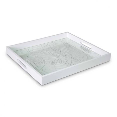 Dienblad Deco Hout Rechthoek Wit 40 x 45cm