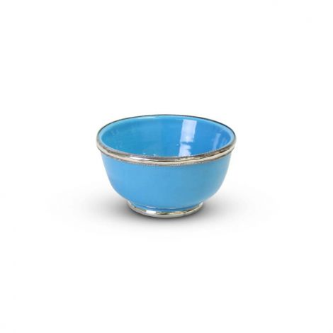 Kom met Metaal Lichtblauw Ø 12.5 x 6cm