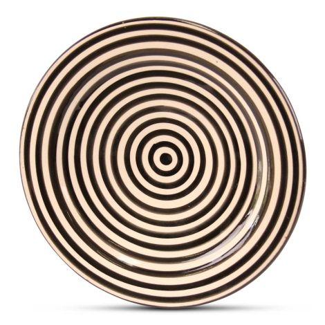 Marokkaanse Bord Zwart Zebra Ø 25cm