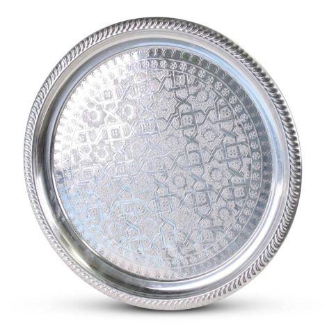 Marokkaanse Dienblad Zilver Ø 47cm