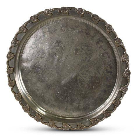 Marokkaanse Dienblad Zilver Ø 57 x 5cm Vintage