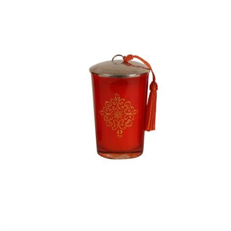 Marokkaanse Geurkaars Oranje-Goud Ø 7 x 11cm