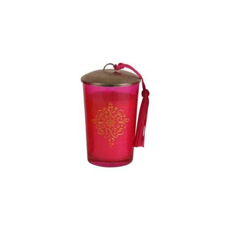 Marokkaanse Geurkaars Roze-Goud Ø 7 x 11cm