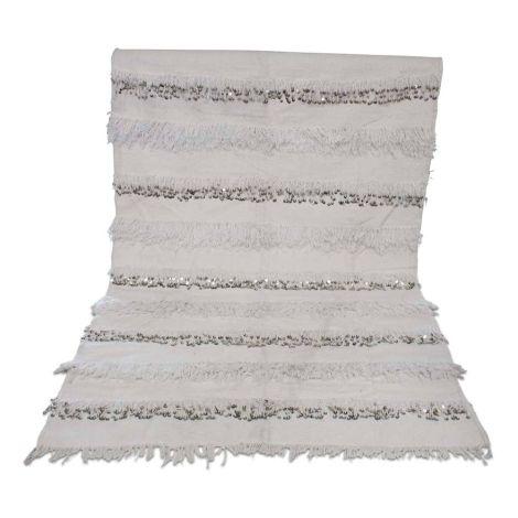 Marokkaanse Handira bedsprei Deken Wit 205 x 134cm