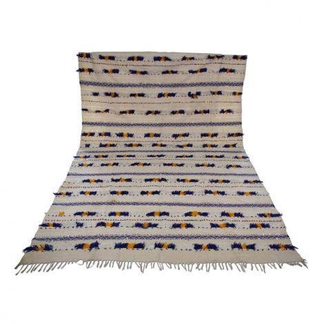 Marokkaanse Handira bedsprei Vintage 279 x 176cm