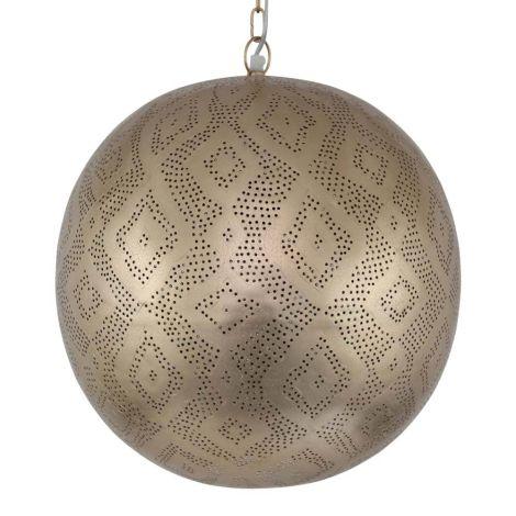 Marokkaanse Hanglamp Goud Cinta Ø 40 x 44cm