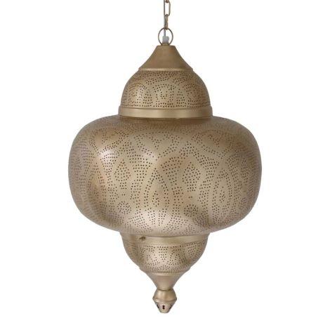 Marokkaanse Hanglamp Goud Derya Ø 42 x 63cm