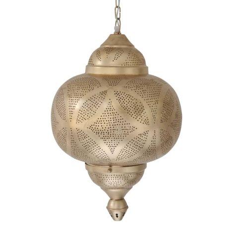 Marokkaanse Hanglamp Goud Lonna Ø 33 x 49cm