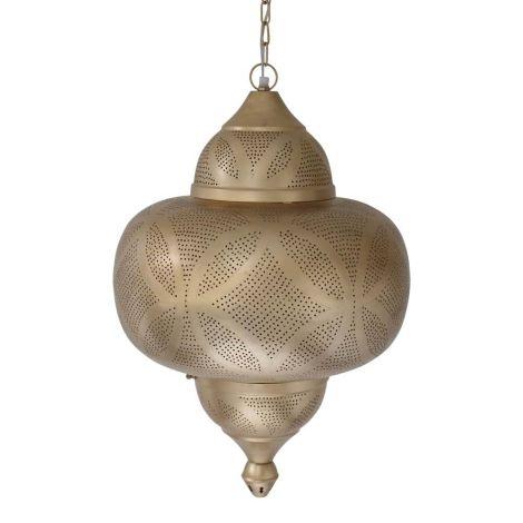 Marokkaanse Hanglamp Goud Lonna Ø 40 x 64cm
