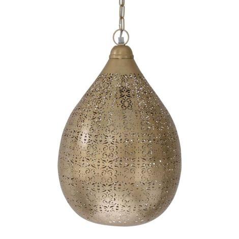 Marokkaanse Hanglamp Goud Mirka Ø 29 x 45cm