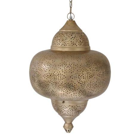 Marokkaanse Hanglamp Goud Natalya Ø 42 x 63cm