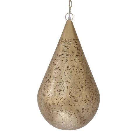 Marokkaanse Hanglamp Goud Nurhan Ø 30 x 54cm