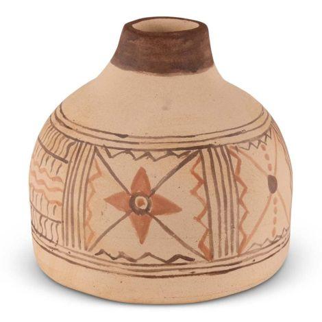 Marokkaanse Kruik Berber Naturel-Bruin Ø 25 x 23cm