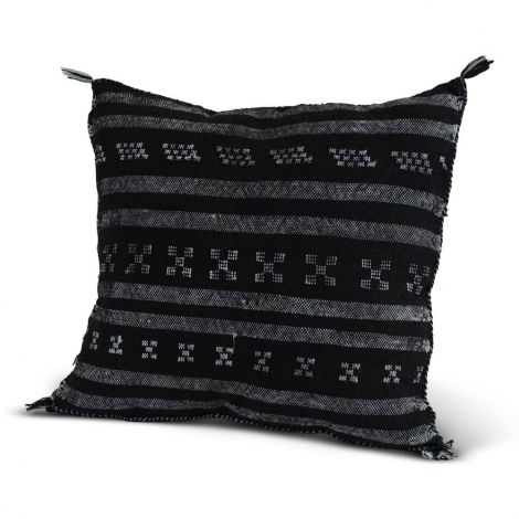 Marokkaanse Kussen Kelim Zwart Vierkant