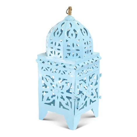 Marokkaanse Lantaarn Blauw Medium Nimra