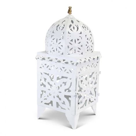Marokkaanse Lantaarn Wit Large Nimra