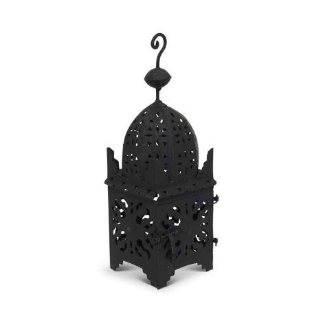 Marokkaanse Lantaarn Zwart Medium Arub