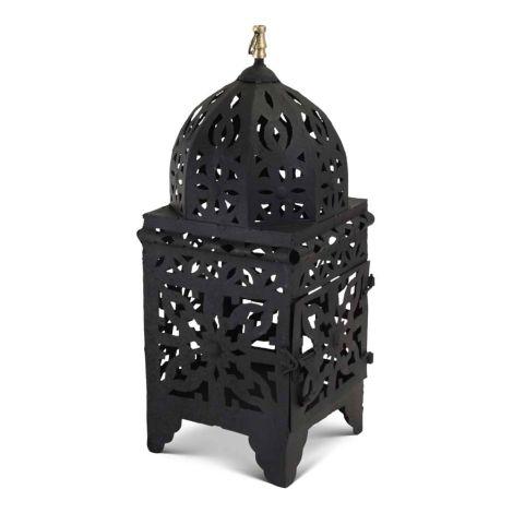 Marokkaanse Lantaarn Zwart Medium Nimra
