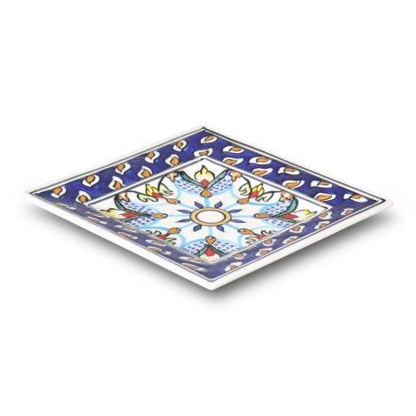 Marokkaanse Schaal Vierkant Blauw 20 x 20cm