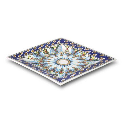 Marokkaanse Schaal Vierkant Blauw 30 x 30cm
