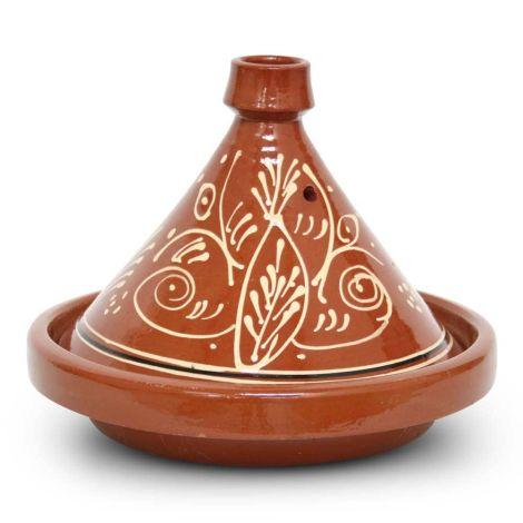 Marokkaanse Tajine met motief Kegel Ø 35 x 26cm