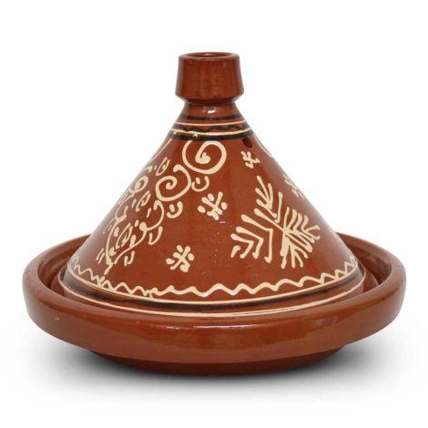 Marokkaanse Tajine met motief XXL Kegel Ø 40 x 28cm