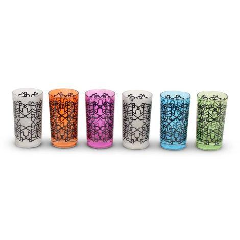 Marokkaanse Theeglazen Set van 6 Glazen Dalal