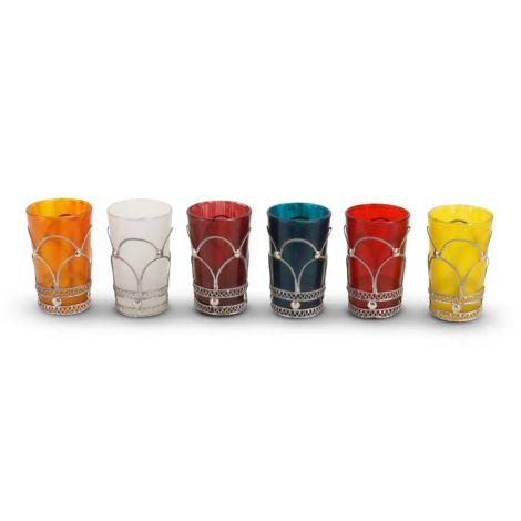 Marokkaanse Theeglazen Set van 6 Glazen Rihana