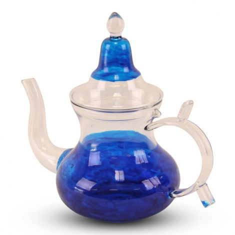 Marokkaanse Theepot van Glas Blauw