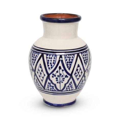 Marokkaanse Vaas Blauw Nakhil Ø 19 x 26cm