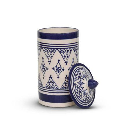 Marokkaanse Voorraadpot Blauw Zerbia Ø 11 x 24cm