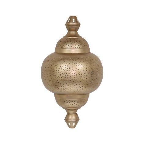 Marokkaanse Wandlamp Goud Imran 23 x 12 x 41cm
