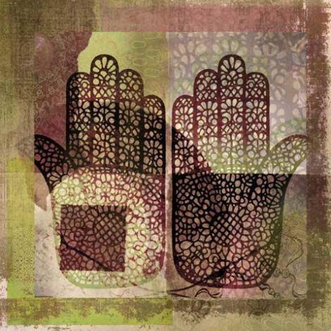 Oosters schilderij Mehndi hands Dai Bruin