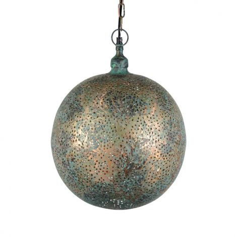 Oosterse Hanglamp Green Patina Ina Ø 30 x 40cm