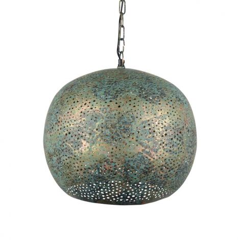 Oosterse Hanglamp Green Patina May Ø 35 x 32cm