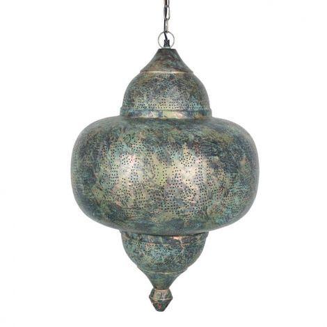Oosterse Hanglamp Green Patina Naina Ø 42 x 63cm