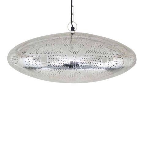 Oosterse Hanglamp Hadaya Zilver Ø 46 x 22cm