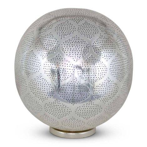 Oosterse Tafellamp Sana Zilver Ø 30 x 36cm