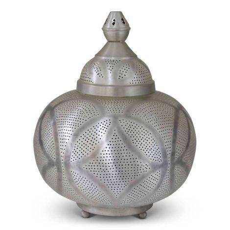Oosterse Tafellamp Zilver Ivana Ø 33 x 40cm