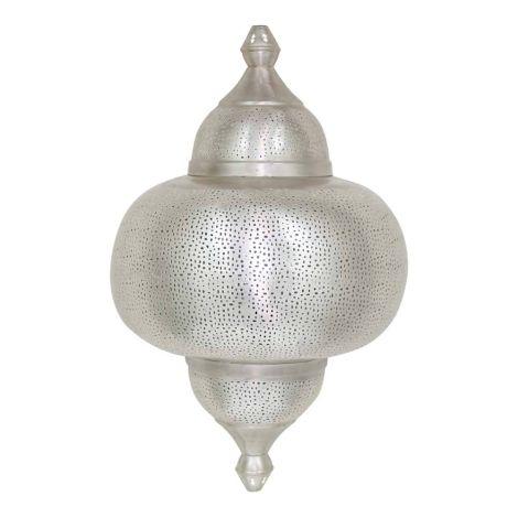 Oosterse Wandlamp Zilver Paya 42 x 22 x 66cm