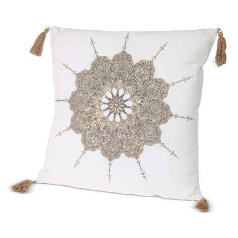 Sierkussen Mandala Wit 45 x 45cm