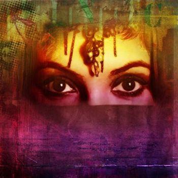 Arabisch schilderij Arabian Hana Geel