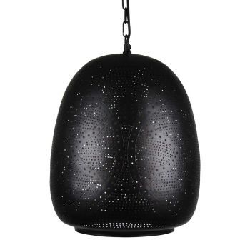 Arabische Hanglamp Basma Zwart Goud Ø 30 x 40cm
