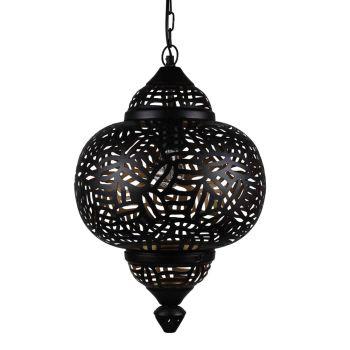 Arabische Hanglamp Zebra Amira Zwart Goud Ø 33 x 51cm