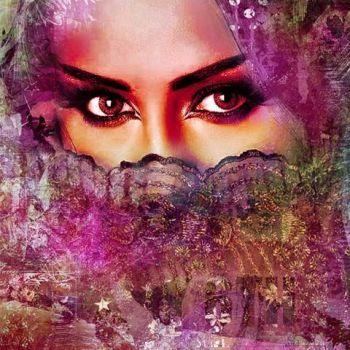 Arabische schilderij Beautiful Lina Roze